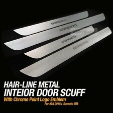 Hairline Metal Aluminum Door Sill Scuff Plate 4Pcs For KIA 2015-2016 Sorento UM