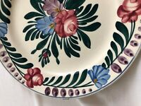 Foret Vosges SARREGUEMINES French Stick Spatter Pink Blue Flower 2 items