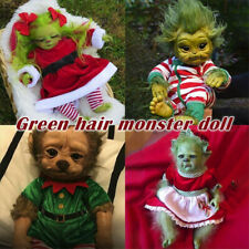 Reborn Baby Grinch Toy Realistic Cartoon Doll Christmas Simualtion Doll Kids