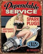 Metal Sign Vehicle Pin Up Dependable Service NEW