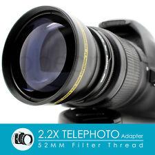 52MM 2.2X Telephoto Lens Adapter for Nikon D7100 D5500 D5300 D5200 D3300 D3200
