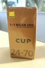 Nican 24-70mm Lens Travel Coffee Mug Cup Looks like a real Nikon Lens! Gift Idea
