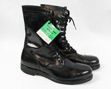 Vintage 70s Vietnam War Black Leather Paratrooper Jump Steel Toe Boots Men 12