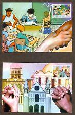 Vatican City Sc# 1320-1: Europa 2006: Integration, 2 Maxi Cards