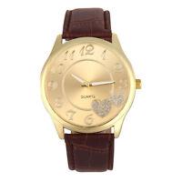 Luxury Women Leather Band Analog Quartz Round Casual Wrist Watch Watches NEW