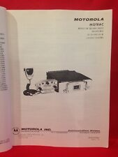 Motorola Motrac Mobile Fm Two-way Radio Service Manual, 450-470Mhz, 1969 Reprod