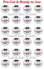 24x HAPPY FATHER'S DAY Edible Wafer Cupcake Toppers PreCut Ready to Use Design 2