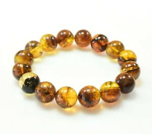 Dominican Amber Bracelet Beads Natural Stone Authentic 15.62 mm (34.2 g)a1393