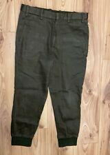 NEIL BARRETT Khaki Green Smart Cuffed Jogging Bottoms (Size 32)