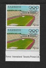 1984 Barbuda - Olympic Games Stadiums - Los Angeles - Pair - Unhinged Mint..