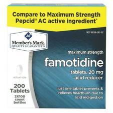 Member's Mark Famotidine 20mg Acid Reducer - 200 Count Exp 07/2022