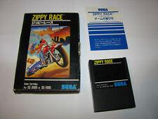 Zippy Race Big Box Sega SG-1000 SC-3000 SMS Japan import Complete US Seller