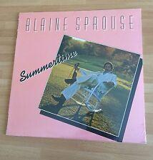 "RARE LP VINYL 12"" BLAINE SPROUSE SUMMERTIME 1980 ROUNDER BLUEGRASS JERRY DOUGLAS"