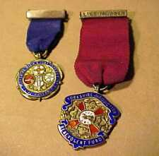 2 UNRESEARCHED ENAMEL & SILVER 1929 MEDALS - MASONIC SYMBOLS = YORKSHIRE ORPHANS