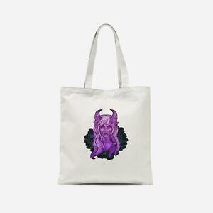 Purple Demon Girl Tote Bag - Print on Demand
