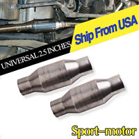 """Two 410250 2.5"""" Universal High Flow Performance Catalytic Converter Racing Cat"""