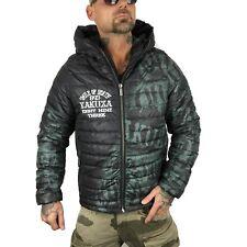 """YAKUZA - Herren Quilted Jacket JB 10040 """"Allover Label"""" dark green  schwarz/grün"""