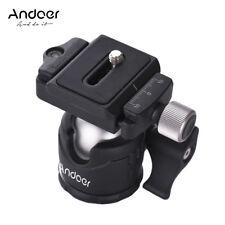 Andoer 360 Camera Tripod Ball Head w/ QR Plate Bubble Level for Canon Nikon DSLR