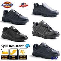 Men's Leather Black Slip Spill Oil RESISTANT Work Shoes Sneakers Non Marking dk