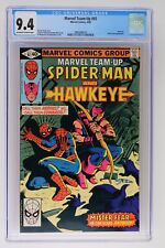 Marvel Team-Up #92 - Marvel 1980 CGC 9.4 Hawkeye. Mister Fear Appearance.