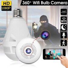 360° Wifi IP Ampoule Caméra de Surveillance HD Détection Mouvement Vision Nuit