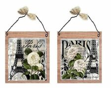 Paris Pictures Eiffel Tower Roses France Wall Hangings Home Decor Plaques