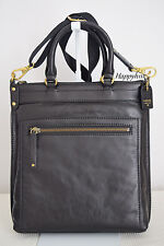 FOSSIL $379  Vintage Legacy Tote Black Leather Tote Crsbody Bag Handbag BNWT