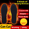 Rechargeable Heated Insoles Foot Warmer Heater USB Charging Heat Shoes Boots Pad