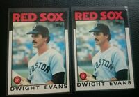 1986 TOPPS TIFFANY #60 DWIGHT EVANS LOT OF 2 BOSTON RED SOX NM-MT