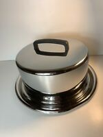 Crate And Barrel Stainless Steel Cake Carrier