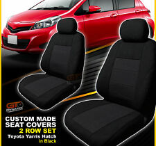 Custom Made Seat Covers Suits Toyota Yaris 4 Door Hatch 2ROWs 11/2011-2016 Black