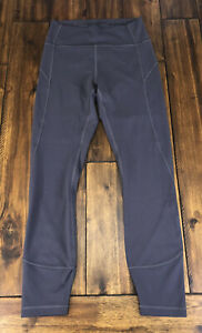 """Lululemon In Movement 7/8 Tight Everlux Leggings 25"""" Tied Blue Size 6 *Stains"""