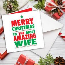 WIFE CHRISTMAS CARD ROMANTIC LOVE Amazing Wife FREE P&P