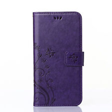 Luxury Leather Wallet Card Holder Stand Case Cover For iPhone Samsung Galaxy