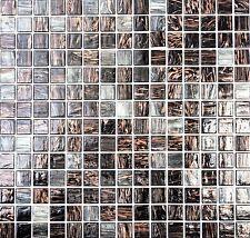 Glasmosaik Goldensilk dunkelgrau schwarz Fliesenspiegel BAD WC Küche 54-0108