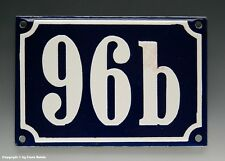 Emaux, E-Mail-numéro de maison 96b en bleu/blanc pour 1960