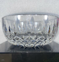 """WATERFORD Lismore Large 8"""" Round Salad Serving Bowl Cut Crystal (IRELAND) W/TAG"""