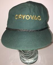 Vintage Cryovac - Green Hat Cap w/ Braided Cord Buckle Back - Cobra Caps