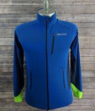Marmot Mens Jacket Blue Soft Shell Full Zip Size Medium