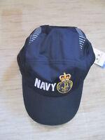 Australian Navy Cap Navy RAN Crest Hat Silk Feel Fabric