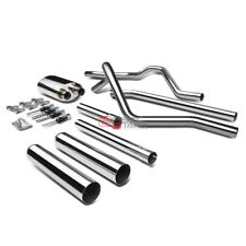 "FOR 04-08 FORD F150 4.6/5.4 V8 3.5""ROLLED MUFFLER STAINLESS CATBACK EXHAUST KIT"