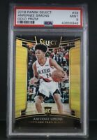 ANFERNEE SIMONS 2018 PANINI SELECT #39 GOLD PRIZM ROOKIE #03/10 RC PSA 9 MINT