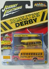 JOHNNY LIGHTNING STREET FREAKS DEMOLITION DERBY 1956 CHEVY SCHOOL BUS B 1/2,500