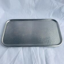 Old Hall Stainless Steel Patterned Tray Footed