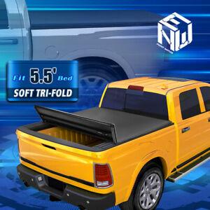 For 04-14 Ford F150 5.5' Bed Fleetside Vinyl Soft Tri-Fold Tonneau Cover w/Clamp