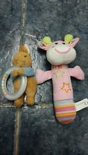 2 pcs soft baby hand rattles inc Peter Rabbit