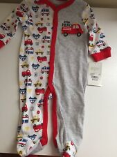 NWT Carter's Baby Gear Baby Boy Footed Pj Little Hero Grey Size 0-3M or 3-6