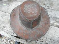 Benmore Outback effet vieilli cuir de vache Chapeau Tressé Bande Style Western