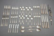 International Radiant Rose Sterling Silver Set, Dinner Service for 8, 60 Pc