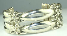 VINTAGE HAND WROUGHT TAXCO MEXICAN 980 STERLING SILVER  CUFF BRACELET